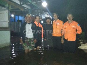 Pemerintah Desa Babakan Dan FKDM Lakukan Giat Patroli di Lokasi Banjir