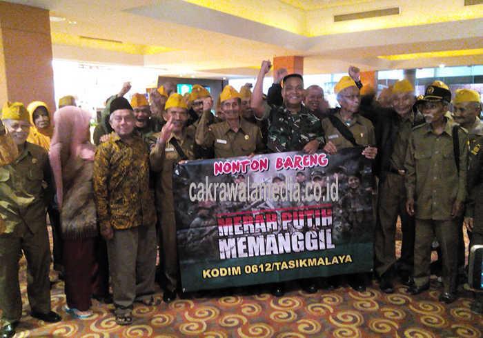 Melalui Nobar Film MPM, Kodim 0612 Bangkitkan Motivasi Generasi Muda