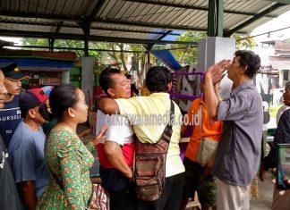 Merasa Kecewa, PKL Dadaha Lakukan Perlawanan dan Gelar Aksi Bakar Roda