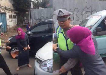 Tak Terima Ditilang, Seorang Ibu Marahi Petugas Kepolisian Menjadi Viral