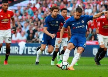 Tendangan Penalti Hazar Bawa Chelsea Juara Piala FA