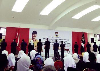 Dilantik, Ratusan Kepala SD dan SMP di KBB Dituntut Amanah