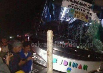 Hindari Motor, Bus Budiman di Ciamis Hantam 4 Orang Pejalan Kaki Hingga Tewas