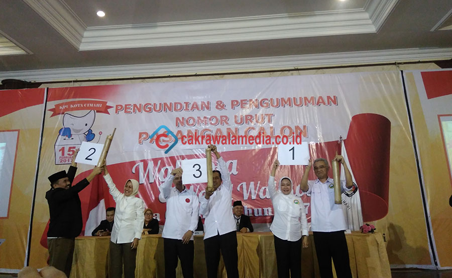 Ini Urutan Nomor Calon Wali Kota dan Wakil Wali Kota Cimahi 2017