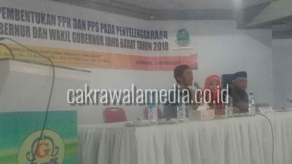 KPU Jabar gelar soaialisasi perkerutan PPK dan PPS bagi 4 KPU sepriatim di Kota Tasikmalaya ( 03/10 )