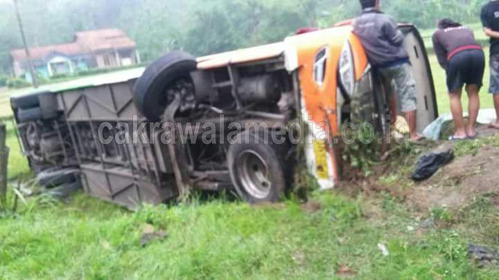 Sopir Ngantuk, Bus Rombongan PPDI Purworejo Alami Kecelakaan