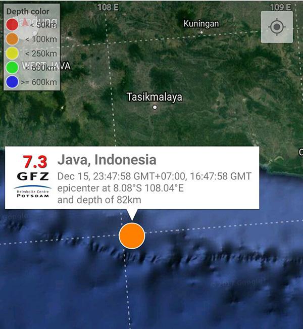 Semalam, Jawa Barat Diguncang Gempa