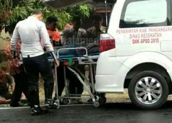 Mobil Dinas Satpol PP Pangandaran Tabrak Sepeda Motor, Satu Orang Terluka
