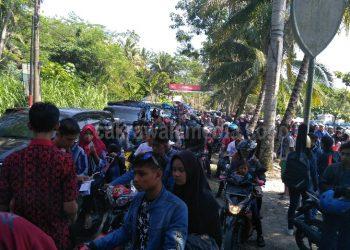 Hari Kedua Lebaran, Tercatat 3000 Motor Masuk ke Pantai Pangandaran