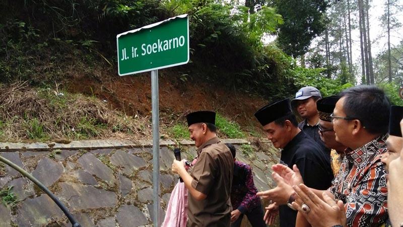 Nama 'Soekarno' diabadikan di Perbatasan Bandung Barat-Subang