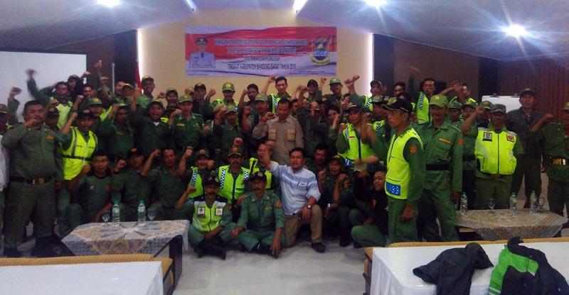 PASI Intel Kodim 0609 Bina Ratusan Linmas di Lembang
