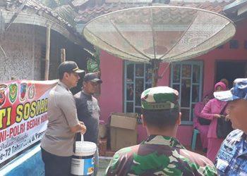 Karya Bakti Sinergitas TNI POLRI, Polres Ciamis Bedah Rumah Warga Desa Purbahayu Pangandaran