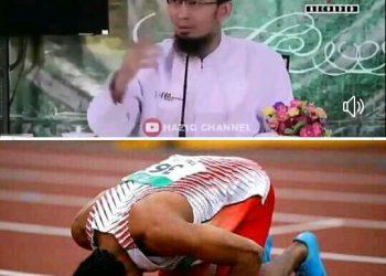 Subhanallah !! Ustad Adi Beri Hadiah Umroh Bagi Zohri Si Pelari Tercepat Dunia Asal lombok