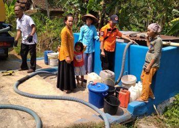 Antisipasi Kekeringan, BPBD Kab Ciamis Distribusikan Air Bersih ke Pelosok Daerah