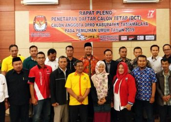 KPU Kabupaten Tasik Gelar Pleno DCT DPRD