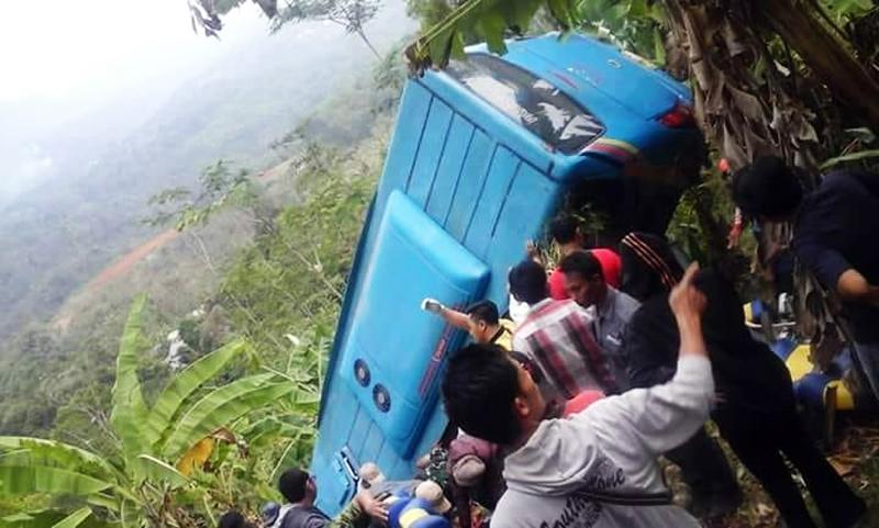 Kecelakaan Bus di Sukabumi Tewaskan 22 Orang