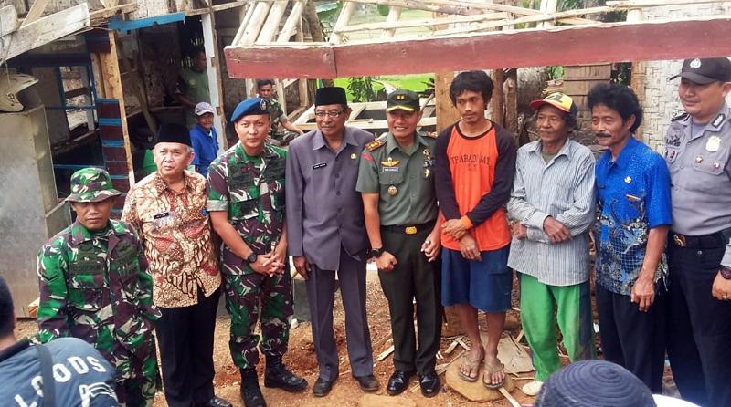 Melalui TMMD, Kodim 0612 Bantu Pembangunan Jalan dan RTLH