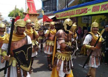 Helaran Budaya TOF 2018, Kec. Tawang Kenakan Kostum Peradaban