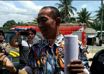 Ratusan Massa LSM GMBI Pangandaran Datangi BRI Unit Mangunjaya