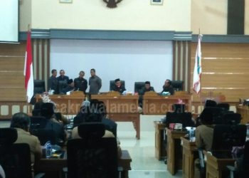 DPRD Pangandaran Gelar Rapat Paripurna Perpanjangan Kontrak Tahun Jamak