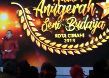 Perdana, Malam Anugerah Seni Budaya Digelar Pemkot Cimahi