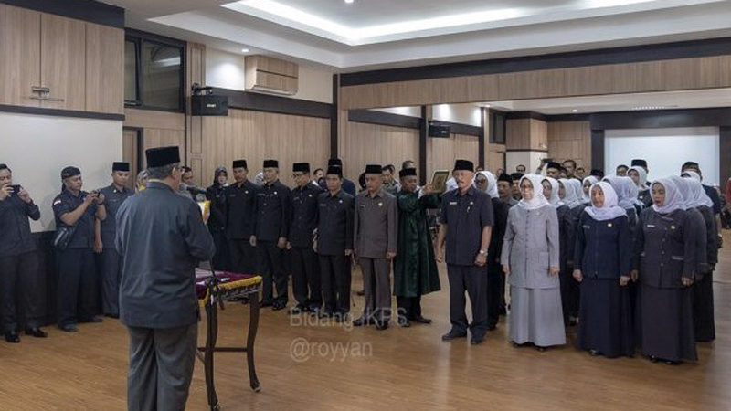 Wali Kota Tasik Lantik Kadis Hasil Open Bidding
