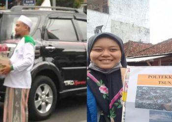 Sejumlah Mahasiswa dan Ormas Islam di Tasikmalaya sedang menggalang donasi bagi para korban Tsunami Banten