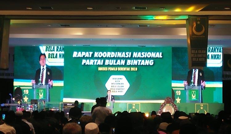Hasil Rakornas, PBB Resmi Dukung Jokowi - Ma'ruf