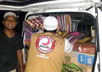 HILMI FPI Tasik, Siap Salurkan Bantuan Logistik untuk Para Korban Bencana