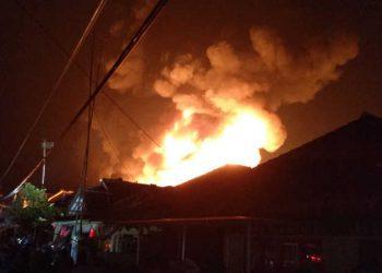 Kampung ABR di Sulap Jadi Lautan Api