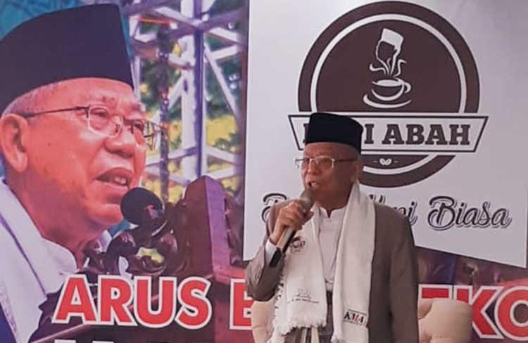 Ma'ruf Amin Berkunjung ke Bandung, Inilah Pesannya untuk Kaum Milenial