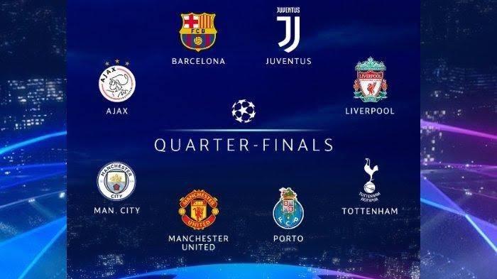 Hasil Drawing Babak 8 Besar Liga Champions Eropa 2019 Cakrawalamedia Co Id