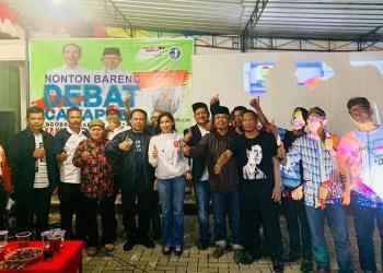 Ini Keseruan Nobar Debat Cawapres di Kampung Halaman Jokowi