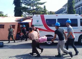 Waspada Bencana, BPBD Kabupaten Tasik Gelar Simulasi