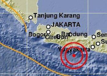 Gempa Bumi 5,7 SR Guncang Barat Daya Cilacap, Terasa hingga Tasikmalaya