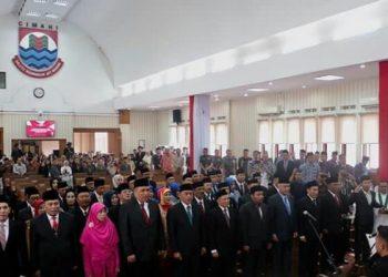 Sebanyak 45 Anggota DPRD Kota Cimahi Periode 2019-2024 Resmi Dilantik