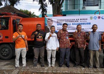 BPR Artha Galunggung Bersama PDAM Tirta Sukapura Salurkan Air bersih