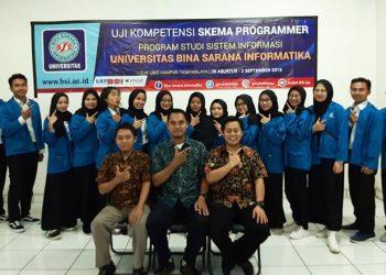 Mahasiswa UBSI Tempuh Ujikom Programmer