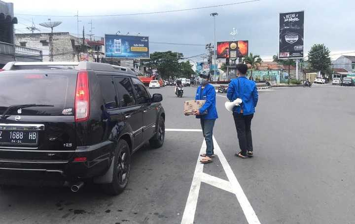 Forum Komisariat PMII Kota Tasik Galang Dana Peduli Bencana Sumedang