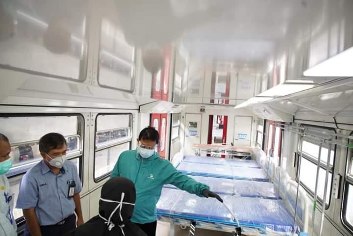 Solutif, Pemkot Madiun Rawat Pasien Covid-19 Di Gerbong Kereta