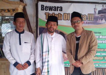 KH. MD. Ubaydillah di didampingi  H Mustofa hilmy bersama sejken FPP KBB